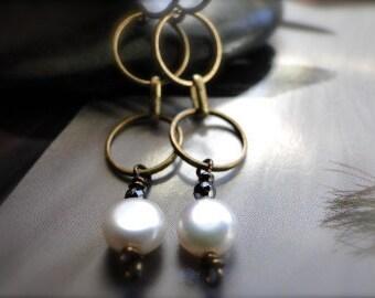 LAST CALL SALE Earrings, Dangle Earring, Freshwater Pearl Earrings Boho Jewelry Freshwater Pearl, Tanzanite Gemstone Earrings, Accessories