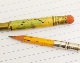 Bullet Pencil Holder/1940's/Statue Of Liberty/Souvenir Pencil Holder/New York Souvenir/1940's Souvenir/Vintage Pencil Holder/WWll Pencil