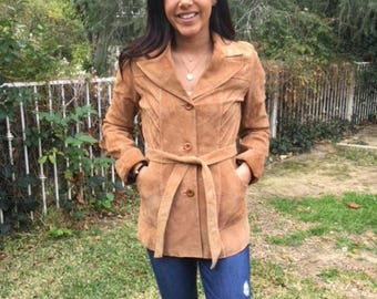 Brown suede jacket,small,coat