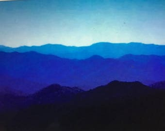 Psalms 90:2 Blue ridge mountains pack of 10 notecards with verse