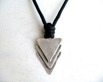 Men pendant etsy triangle men pendant geometric jewellery anniversary for him boyfriend birthday brother gift mozeypictures Images