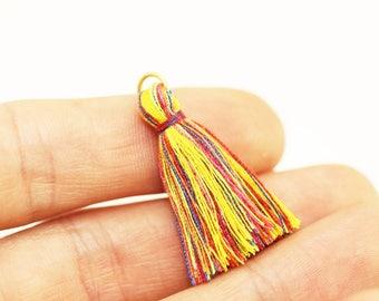 Boho Mini Earring Tassel, Colorfull Tassels, mini tassel, tassel bracelet, mala tassel, Tassel, tiny tassel, short tassel, small tassel