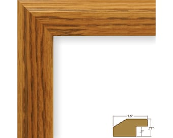 """Craig Frames, 14x18 Inch Light Oak Picture Frame, Mossehaus, 1.5"""" Wide (FW4NA1418)"""