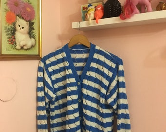 Vintage stripped cardigan size S 70's 80's