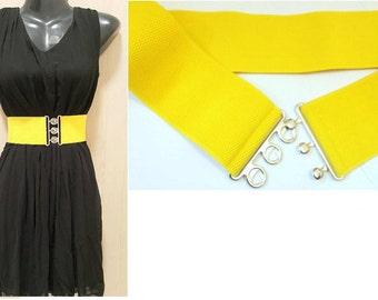 Plus size belt, Women belt, Waist Belt, Yellow Waist Belt, Cinch Belt, CUSTOM MADE