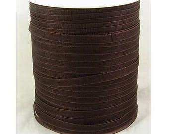 Brown 6 mm wide organza Ribbon