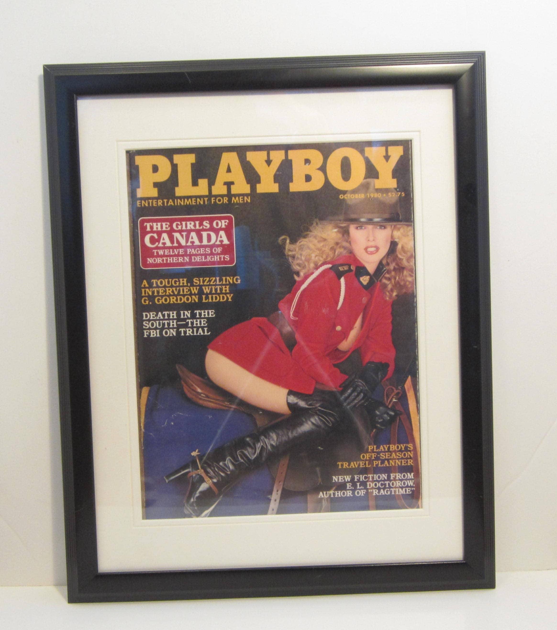 Portada de la revista Playboy Vintage enmarañado enmarcado:
