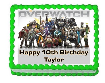 Overwatch party decoration edible cake image cake topper frosting sheet