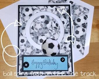 Sports, Spinner, Birthday, Card, BDay, 3-D, 3D, Soccer, Teen, Boy, Girl, Ball, Moving, Interactive, Sport, Athletics
