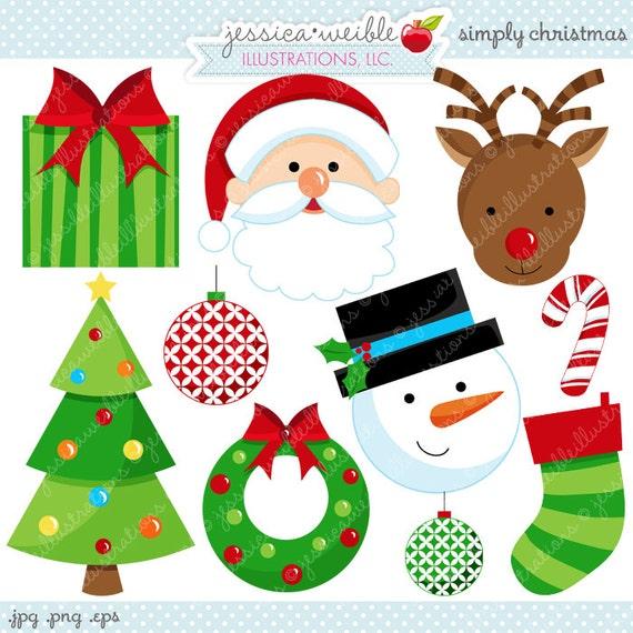 simply christmas cute christmas digital clipart commercial rh etsy com cute christmas tree clipart cute christmas clipart free download