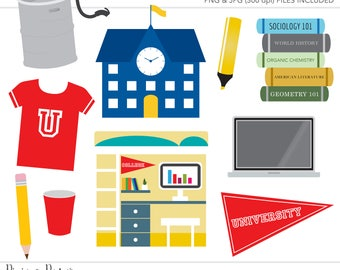 Commercial Use Clipart, Commercial Use Clip Art, College Clipart, School Clipart, Dorm Room, Commercial License, Commercial Clipart