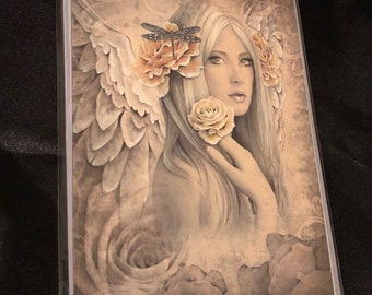Stunning Fantasy Mystical Blank Greetings Card by Jessica Galbreth.