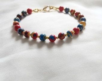 Bracelet - Seventies Bracelet - Hippie Bracelet - Boho Bracelet - Festival Bracelet - Retro Bracelet - Multicoloured Bracelet - 70s Bracelet