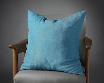 Teal Pillow, Teal Cushion, Teal Pillow Cover, Teal Sofa Pillow, Teal Throw  Pillow, Teal Pillow 20x20, Teal Pillow 14x20, Mothers Day Gift