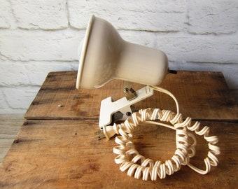 Vintage Light Blue Task Lamp Clip on Lamp Goosneck Lamp