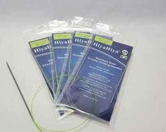 "HiyaHiya Stainless Steel Circular Knitting needles, 0.7-7.5 mm, 60 cm/24"""