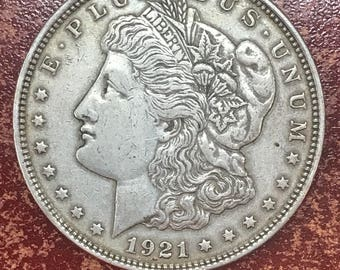 1921 Morgan Silver Dollar Coin -M177-