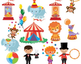 INSTANT Download.  Circus clip art. Ccirc_ 3. Personal and commercial use.