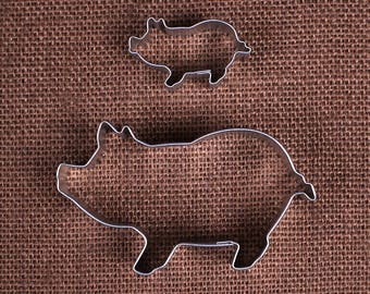 Pig Cookie Cutter Set, Mini Pig Cookie Cutter, Piggy Cookie Cutters, Pig Biscuit Cutter, Farm Cookie Cutter, Animal Cookie Cutter