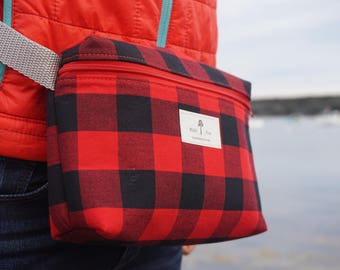 White Pine Bags buffalo plaid shoulder bag and fanny pack