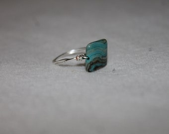 Marbled Stone w/ Silver Band