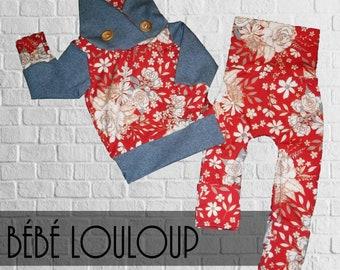 Model Kit Hoodies/pants flower vintage