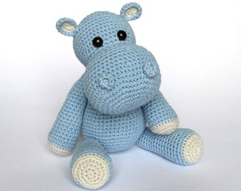 Little Hippo Timi- Amigurumi Crochet Pattern / PDF e-Book / Stuffed Animal Tutorial