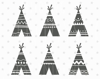 Teepee SVG File Teepee SVG Tribal svg file TiPi svg Native American svg Wild Svg Teepee Tent svg Teepee SVG Silhouette Indian svg Aztec svg