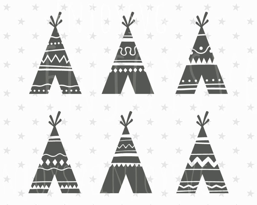 Teepee SVG File Teepee SVG Tribal svg file TiPi svg Native