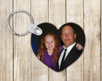Photo stocking stuffer, Personalized Photo Keychain, Family Picture Gift, Unique photo gift, Senior Picture Keepsake, stocking stuffer