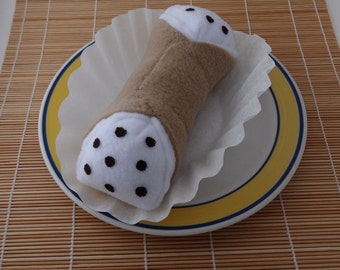 Squeaky Cannoli Dog Toy for Larger Dogs