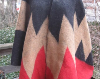 Womans-cape-by-Brixton-Navajo-inspired-Navajo-Blanket-One-Size-Fits-All