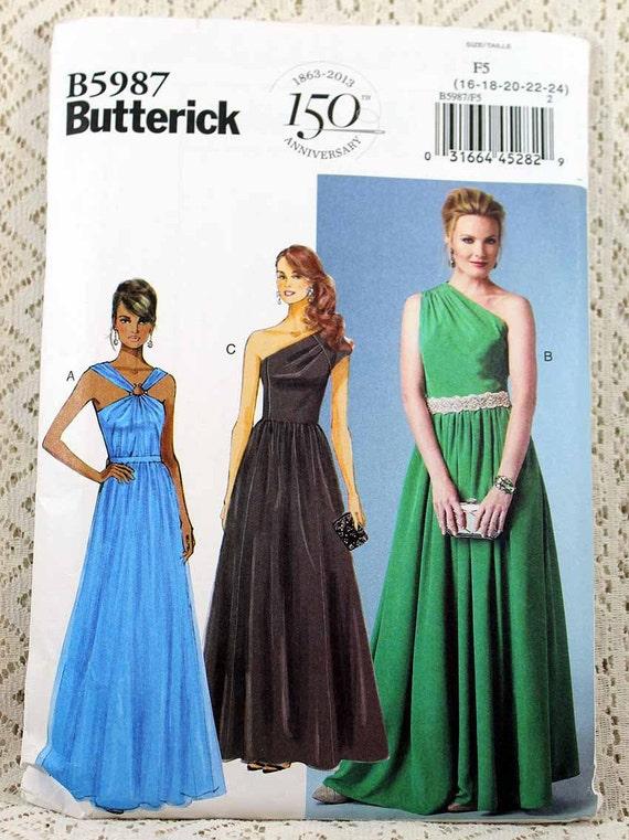 Butterick 5987, Misses\' Dress Sewing Pattern, Easy Dress Pattern ...