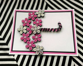 My Umbrella Quilled Greeting Card/ Love Card/ Thinking of You / Anniversary / Monthsary/ Birthday Card/ Handmade Quilled Card