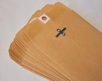 "Kraft Envelope with Clasp,  4"" x 6 3/8"" Manilla (set of 25)"