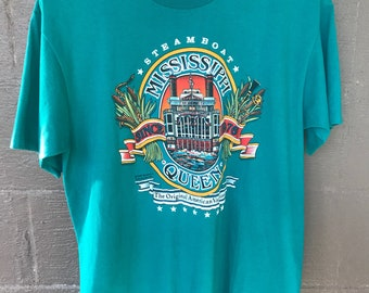 Vintage Mississippi Queen Steamboat Tshirt 1989