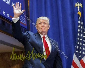 Donald Trump Signed Reprint Make America Great Again Photo 2016 Republican Dt13