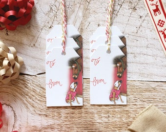 Dog Gift Tag Set - Boxer, Christmas Gift Tags, Paper Gift Tag, Christmas Packaging, Christmas Gift Wrap, Horse Christmas, Boxer Christmas