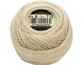 DMC Pearl / Perle Cotton Thread Balls Size 8 Cream 712