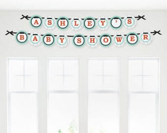 Mr. Foxy Fox Garland Banner - Custom Party Decorations for Baby Showers or Birthday Parties