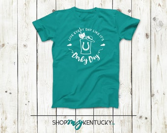Live Every Day Like It's Deby Day Softstyle T-Shirt, Shirt, Tshirt, Graphic Tee, Kentucky Derby, Mint Julep, Horses, Hat, Horse Race, KY
