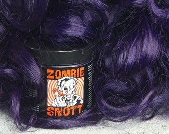 """Zombie Snott """"Violet X"""" BRAND NEW long-lasting hair color to DYE for! - 4oz Jar"""