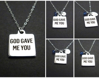 Message necklace, personalized gift for daughter, Christian mother, new mom Christmas gift