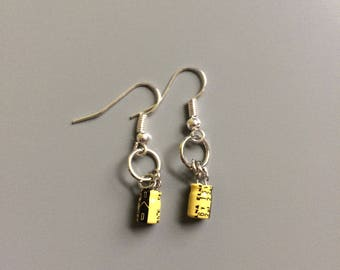 Earrings Made of Electronic Parts and Pieces