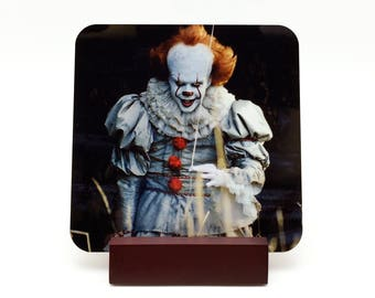 Pennywise Coaster Pennywise Drink Coaster IT 2017 Coaster Horror Coaster Halloween Coaster Stephen King IT Horror Decor Kitchen Decor