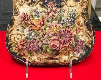 Vintage Austrian Needlepoint with Marcasite Frame