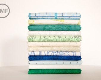 Friedlander Cool Waters Half Yard Bundle, 12 Pieces, Carolyn Friedlander, Robert Kaufman Fabrics, 100% Cotton Fabric, AFR