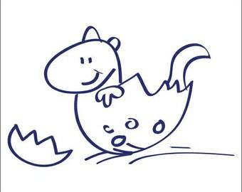 Dinosaur Doodle Decal  3