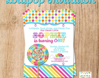 LOLLIPOP invitation - YOU Print
