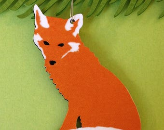 Fox Christmas tree ornament